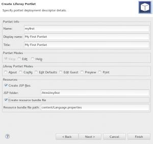 Hodnoty pro deployment descriptor - portlet.xml