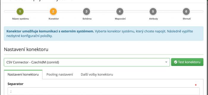 CzechIdM - wizard napojení koncového systému