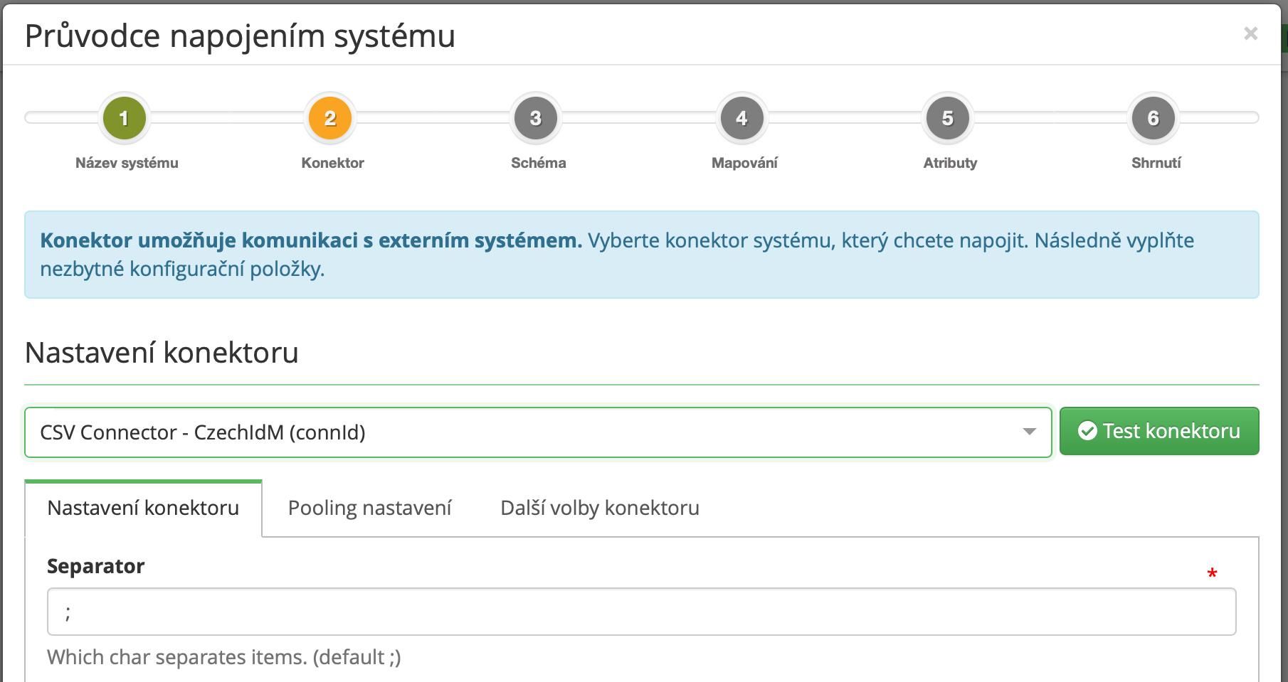 Průvodce pro připojení koncového systému do CzechIdM